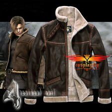 PC Games Resident Evil 4 leon kennedy Jacket Cosplay Costume S-4XL