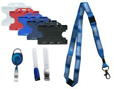 NHS Triple Breakaway Lanyard & Double Sided ID Card Badge Holder Pack Free P&P
