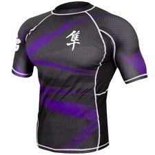 Hayabusa Metaru 47 Short Sleeve Rashguard (Black/Purple) - bjj ufc mma