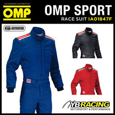 IA01847F OMP SPORT FIREPROOF SUIT RACE & RALLY FIA 8856-2000 APPROVED 3 COLOURS