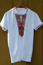 Ukrainian man shirt embroidery mens vyshyvanka short sleeve