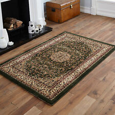 SMALL MEDIUM LARGE EXTRA LARGE ELEGANT TRADITIONAL CLASSIC GREEN COLOUR RUGS