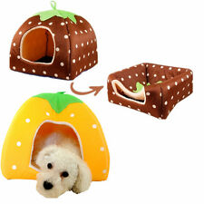 Super New Soft Strawberry Pet Dog Cat Bed House Kennel Doggy Warm Cushion Basket
