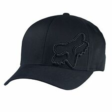NEW FOX FLEX 45 FLEXFIT HAT FLEX FIT BLACK CAP HAT LID MENS ADULT GUYS