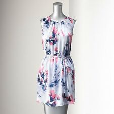 Simply Vera Vera Wang Floral Shift Dress, Sleeveless, Coordinating Sash L XL NWT