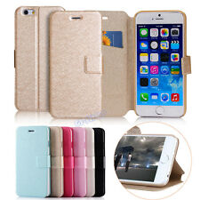 Slim Flip Leather Card Wallet Stand Case Cover For Apple iPhone 4S 5S 6 6 Plus
