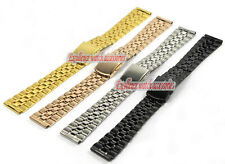 18mm|20mm Stainless steel Bilateral press Clasp Watch Bands Strap Bracelet S6