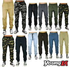 Mens Drop Crotch Harem Jogger Pants Twill Dance Sportswear Elastic Waist