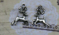 20/60pcs 20x17mm Antique silver alloy lovely  Sika deer charm pendant