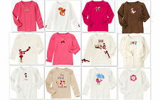 NWT Gymboree girl long sleeve shirt tee pink brown white size 4 5 6 NEW you pick