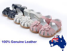 WHITE PINK GIRL Leather Sandals Shoes Baby Toddler Summer Size 4/5/6/7/8/9/10