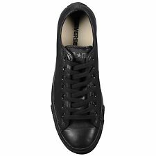Converse 1T865:Chuck Taylor All-Star Leather Low Mono-BLACK Shoes Men/Women/Kids