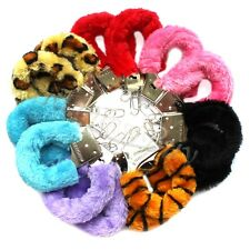 Stylish Soft Metal Adult Hen Night Party Game Sexy Gift Furry Fuzzy Handcuffs