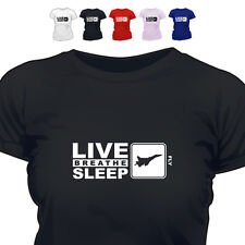RAF Pilot Gift T Shirt Eat Live Breathe Sleep Fly 888