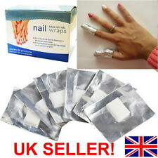 Nail Art Soak Off Remover Gel Polish Acrylic Shellac Removal Foil Wraps Pad