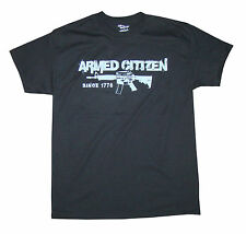 """Support the 2nd Amendment! Armed Citizen Apparel M4 """"Since 1776"""" Tee Black NWT"""