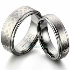 Polished Celtic Knot Design Tungsten Carbide Men's Women's Ring Wedding Band