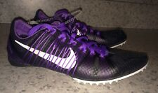 NEW Mens 5 NIKE Zoom Victory 2 Black Purple Middle Distance Track Spikes Shoes