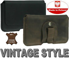 PIANO REAL GENUINE LEATHER HOLSTER BELT CLIP POUCH CASE - WIDE RANGE OF MODELS
