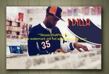J DILLA BOX CANVAS POSTER RAP RAPPER HIP HOP JAY DEE SIZES A1 A2 or A3