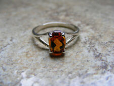 S290 Sterling Silver Simply Styled Ring With 1 Carat Natural Citrine Gemstone