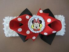 Minnie Mouse Hair Bow Infant Toddler Child With or W/O Headband SHIPS FREE