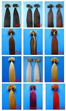 "100S 16""18""20""22""24""26"" NAIL TIP REAL HUMAN HAIR EXTENSIONS STRAIGHT 50gr 100gr"