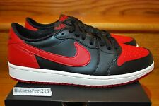 Nike Air Jordan 1 Retro I Low OG Bred 2015 Red 705329-001 GS & MEN Sz:4y-13