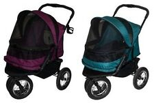 Pet Gear NO-ZIP Double Pet Cat Dog Stroller for pets up to 90 pounds