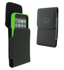 Vertical Leather Swivel Clip Case Pouch For Apple iPhone Cell Phone