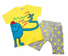 Age 1-5 Baby Kids Boy Little Monster T-shirt and Polka Dot Pants 2-pc Outfit