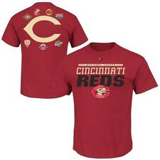 Cincinnati Reds Majestic Cooperstown Men's 2 Sided T Shirt Red Big & Tall Sizes