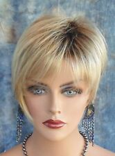 CUTE SHORT WIG *CLR 12FS8 ROOTED BLOND LIGHTWEIGHT FOR CANCER PATIENTS NIB