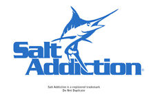 Salt Addiction  marlin decal sticker saltwater fishing reel life ocean
