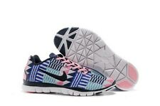 Nike Free TR Fit 3 Print Womens Running Shoes Aztec White Blue Pink 555159 113
