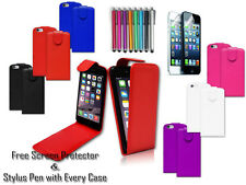 New Premium Leather Pu Top Open Flip Wallet Case Cover For Apple iPhone 5 5G 5S