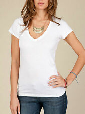 Alternative Apparel Women's V-neck T-shirts in 100% Cotton stretch - colors