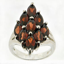 925 Sterling Silver 3.15 Ct Natural Garnet Ring