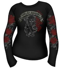 Sons of Anarchy Reaper With Roses SOA Women's Juniors Long Sleeve Tee