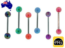 1pc New Stainless Steel Acrylic Tongue Bar Barbell Stud Ring Body Piercing