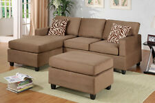 microfiber sectional sofa 3 pc living room furniture sofa set sectional couch