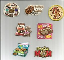 Girl Scout/Guides Patch/Crest/Badge  MY MOM'S A COOKIE MOM   (your choice)