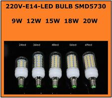 Lampadina a led E27 E14 smd 5730 led lamp bulb 9w 12w 15w 18w 25w cold warm