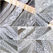 VINTAGE White LACE RIBBON WEDDING TRIM Assorted Bridal Shabby Chic Cards Sewing