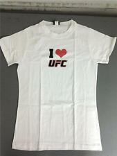 """UFC """"I LOVE UFC"""" LADIES OFFICIALLY LICENSED WHITE T-SHIRT"""