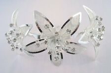 CRYSTALS & LILIES LUXURY HAIR COMB~FIRST HOLY COMMUNION~WEDDING~FREE POST UK