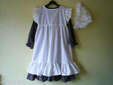 VICTORIAN COSTUME Dress and apron / Pinafore and mop hat all sizes free delivery
