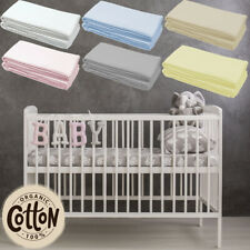 Jersey Fitted Sheet 100% Cotton Moses Basket Crib Cot Bed Baby Toddler Bed New