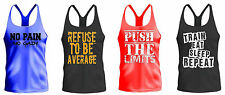 Bodybuilding MUSCLE VEST TANK TOP STRINGER GYM LOW SCOOP NECK MENS RACERBACK