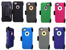 Heavy Duty Hybrid Protective Defender Case Cover w/Holster Clip For Iphone 5C